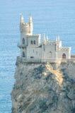 Beautiful Swallow's Nest Castle on the Rock, Crimea, Ukraine Stock Image