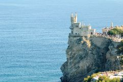 Beautiful Swallow's Nest Castle on the Rock, Crimea, Ukraine Royalty Free Stock Photo