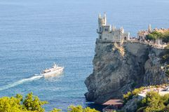 Beautiful Swallow's Nest Castle on the Rock, Crimea, Ukraine Stock Image
