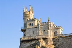 Beautiful Swallow's Nest Castle on the Rock, Crimea, Ukraine. Beautiful Famous Swallow's Nest Castle on the Rock, Crimea, Ukraine stock photo