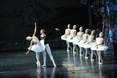 Beautiful swan turned out to be under a curse-ballet Swan Lake. In December 20, 2014, Russia's St Petersburg Ballet Theater in Jiangxi Nanchang performing ballet Stock Photo