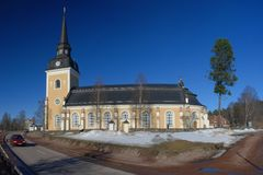 Beautiful  Swedish church in Älvdalen. Beautiful church in Swedish town Älvdalen Stock Photography