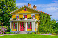 Beautiful swedish house in Tradgardsforeningen Stock Photo