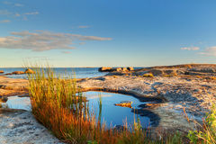 Beautiful swedish landscape at sunset Stock Image