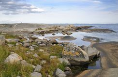 Beautiful Swedish sea landscape Royalty Free Stock Photo