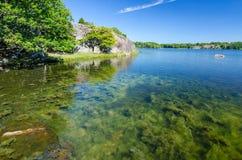 Beautiful Swedish sea shore in summer season Royalty Free Stock Image
