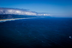 Beautiful sweeping view of the Pacific from the Oregon Coast Royalty Free Stock Photography