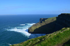 Beautiful Sweeping Views of Ireland`s Cliff`s of Moher Royalty Free Stock Images