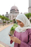 Beautiful and sweet Asian Malay Muslim lady Stock Photos
