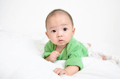 Beautiful sweet baby looking up Royalty Free Stock Photos