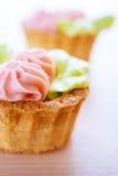 Beautiful sweet cakes Stock Photos