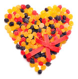 Beautiful sweet candies in heart shape Stock Photo