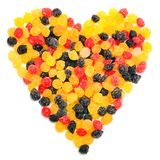 Beautiful sweet candies in heart shape Royalty Free Stock Image