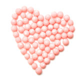 Beautiful sweet candies in heart shape Royalty Free Stock Photos