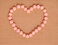 Beautiful sweet candies in heart shape Royalty Free Stock Images
