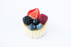 Beautiful sweet cheesecake with fruit Royalty Free Stock Image