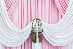 Beautiful sweet curtains with tassels. Stock Photography