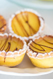 Beautiful sweet little lemon cupcakes. A shot of some beautiful pastries and desserts stock photos