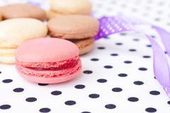 Beautiful and sweet pastries macaroon Stock Image