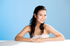 Beautiful sweet smile. Beautiful smile of a asian woman Stock Image