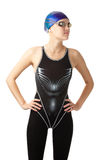 Beautiful swimmer Royalty Free Stock Image