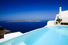 A beautiful swimming pool at Fira Stock Photography