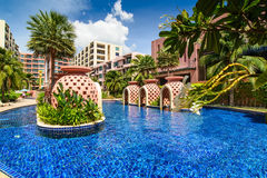 Beautiful swimming pool in hotel, Thailand Royalty Free Stock Photos
