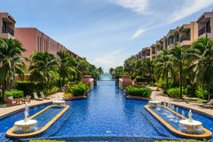 Beautiful swimming pool in hotel, Thailand Stock Image