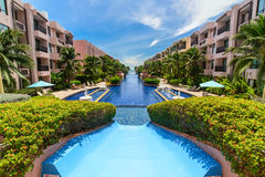 Beautiful swimming pool in hotel, Thailand Royalty Free Stock Photo