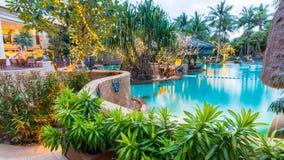 Beautiful swimming pool inresort , Phuket, Thailand. Stock Image