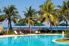 Beautiful Swimming Pool Near The Beach Stock Image