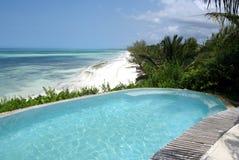 Beautiful swimming-pool in resort Stock Photos
