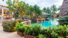 Beautiful swimming pool in resort , Phuket, Thailand. Stock Image