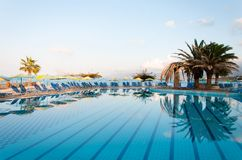 Beautiful swimming pool on shore of Sea Royalty Free Stock Images