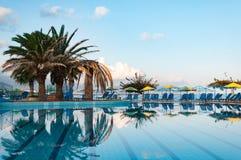 Beautiful swimming pool on shore of Sea Royalty Free Stock Photo