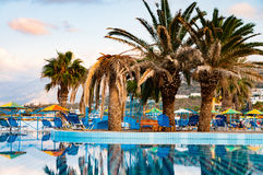 Beautiful swimming pool on shore of Sea Stock Images