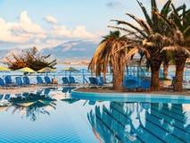 Beautiful swimming pool on shore of Sea Royalty Free Stock Image