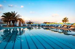 Beautiful swimming pool on shore of Sea Royalty Free Stock Photos