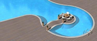 Beautiful swimming pool Royalty Free Stock Image