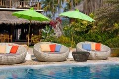 Beautiful swimming pool, Thailand . Royalty Free Stock Photos