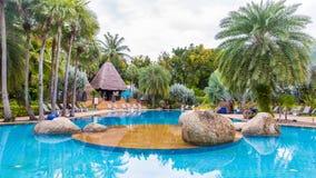 Beautiful swimming pool ,tropical resort , Phuket, Thailand. Beautiful swimming pool in tropical resort , Phuket, Thailand Stock Images