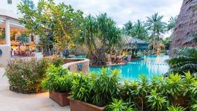 Beautiful swimming pool in tropical resort , Phuket, Thailand. Stock Photography