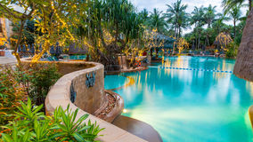 Beautiful swimming pool in tropical resort , Phuket, Thailand. Royalty Free Stock Photo