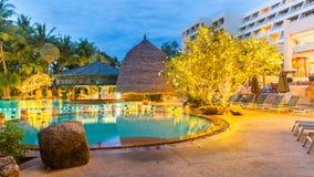 Beautiful swimming pool in tropical resort , Phuket, Thailand. Beautiful swimming pool in tropical resort , Phuket inThailand Royalty Free Stock Photos