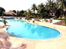 Beautiful swimming pool view Royalty Free Stock Photo