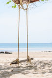 Beautiful and swing tropical beach Royalty Free Stock Image