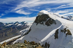 Beautiful  Swiss Alps landscape with mountains, rocks and glacier Royalty Free Stock Photography