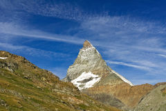 Beautiful  Swiss Alps landscape with mountains, rocks and glacier Royalty Free Stock Photos