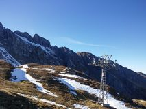 Beautiful Swiss mountains, fresh air Stock Images