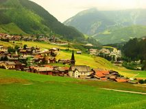 A beautiful Swiss sleepy village with amazing view Royalty Free Stock Image